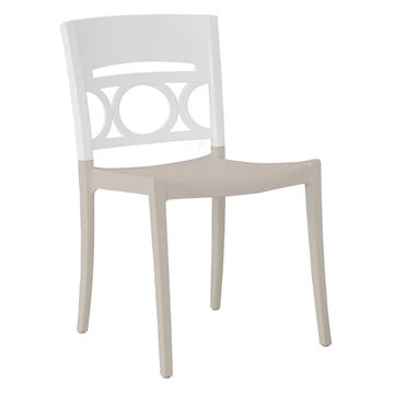Moon Stacking Outdoor Dining Chair, Air Modeled Plastic