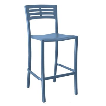Vogue Stacking Armless Barstool, Air Modeled Plastic