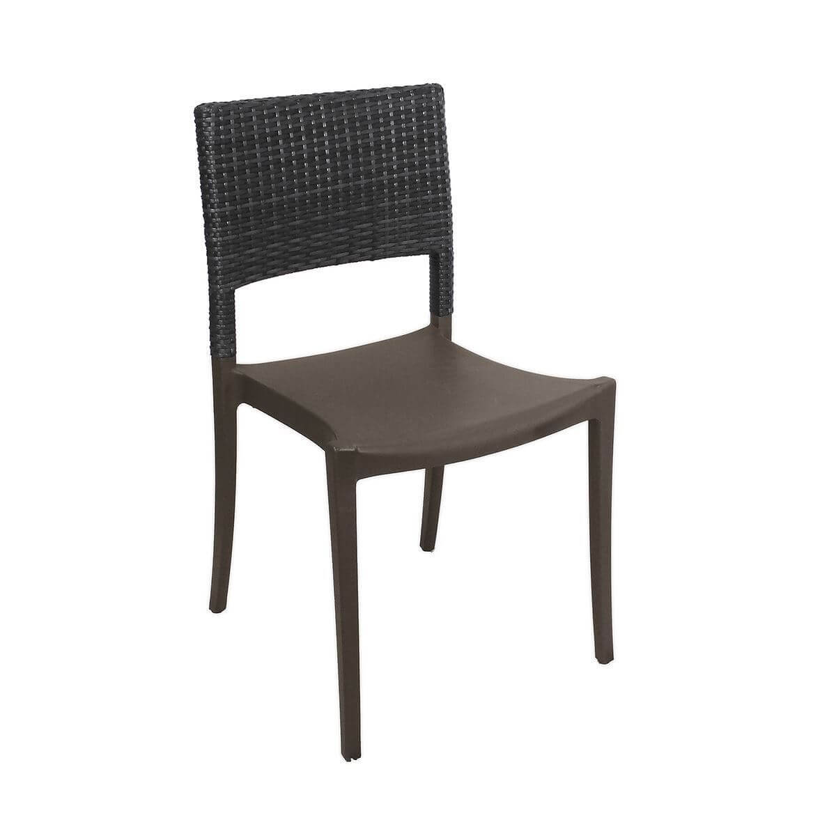 Java Stacking Outdoor Dining Chair Air Modeled Plastic