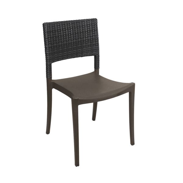 Peachy Java Stacking Outdoor Dining Chair Air Modeled Plastic With Wicker Back 10 Lbs Unemploymentrelief Wooden Chair Designs For Living Room Unemploymentrelieforg