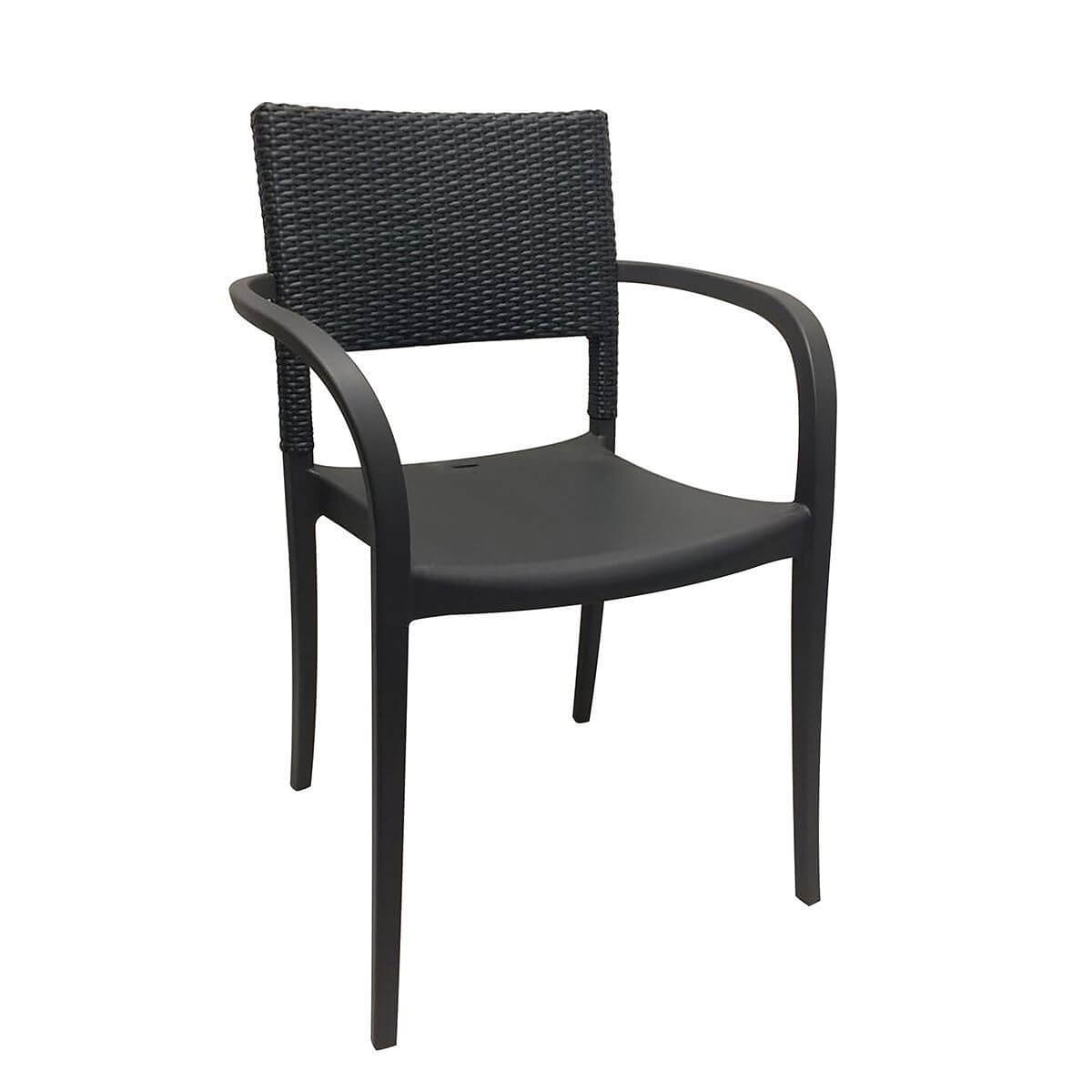 Java Stacking Outdoor Dining Arm Chair, Air Modeled ...