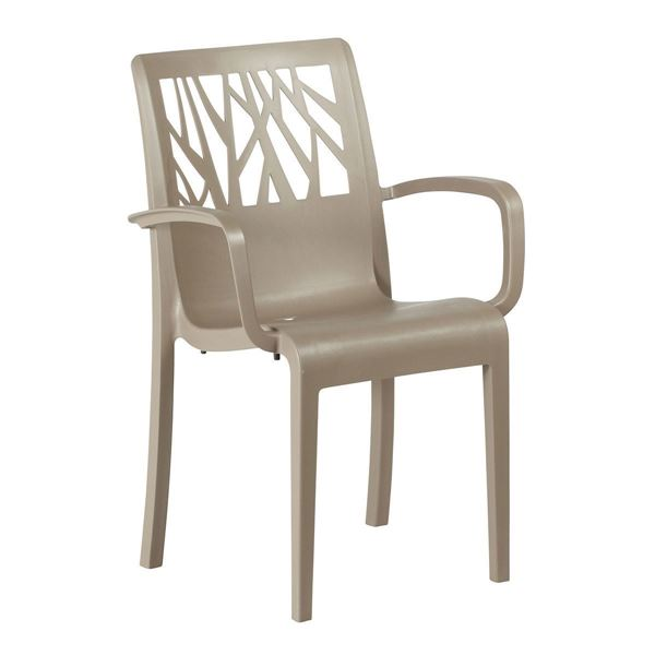 Vegetal Commercial Grade Plastic Resin Dining Arm Chair