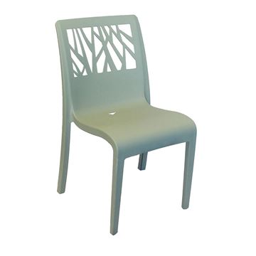 Vegetal Stacking Plastic Resin Armless Dining Chair