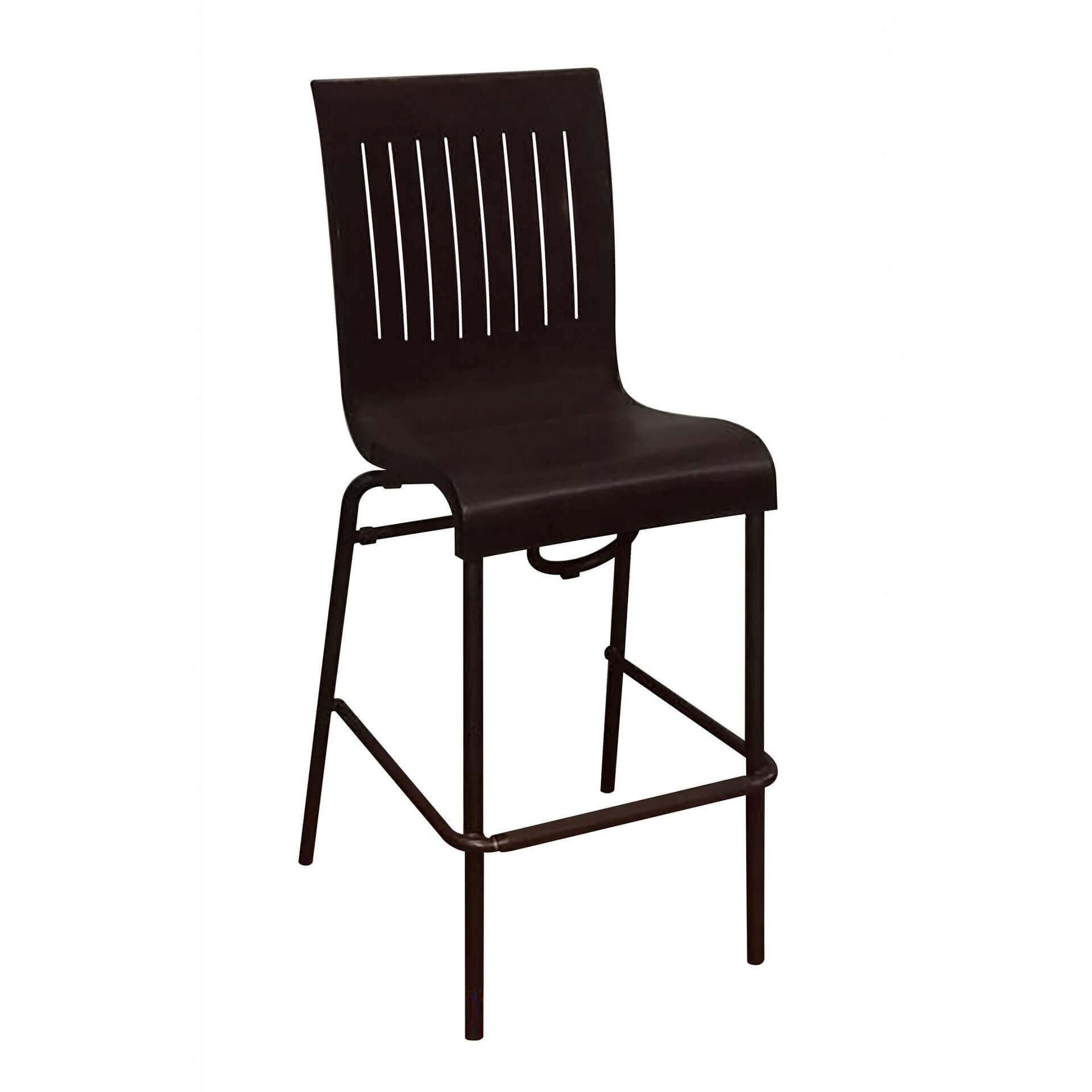 ... Viva Stacking Bar Chair With Two Toned Plastic Resin Seat And Aluminum  Legs