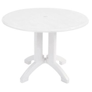 "Atlanta 42"" Round Pedestal Table With Umbrella Hole"