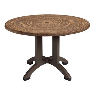 "Atlanta 42"" Round Pedestal Table With Umbrella Hole"