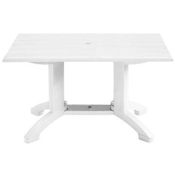 "Atlanta 48"" X 32"" Pedestal Table With Umbrella Hole"