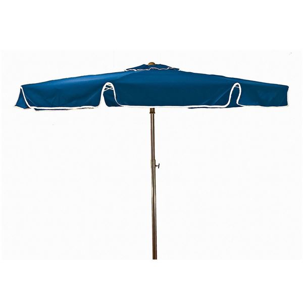 "6.5' Round Beachmaster Fiberglass Ribbed Umbrella With 1 ½"" Aluminum Pole And Sand Anchor"
