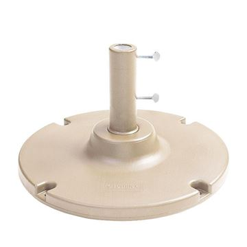 35 LB. Table Use Concrete Umbrella Base With Optional 35 LB. Ring For Additional Weight
