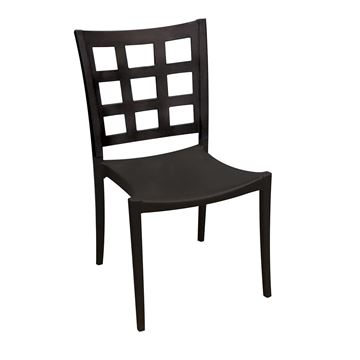 Plazza Polymer Stacking Dining Chair with Aluminum Frame, 13 Lbs. – For Interior Commercial Use
