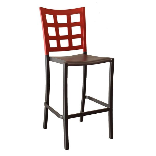 Plazza Polymer Stacking Barstool With Aluminum Frame, 22 Lb. – For Interior Commercial Use