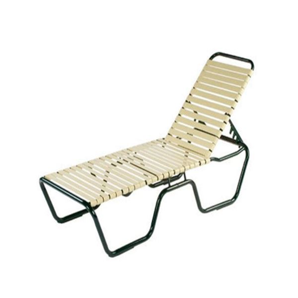 Neptune Senior Chaise Lounge Vinyl Straps With Aluminum Frame