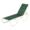 Neptune Chaise Lounge Fabric Sling with Stackable Aluminum Frame
