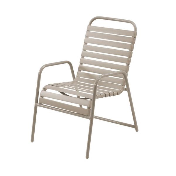 St. Maarten Dining Chair Vinyl Straps with Aluminum Frame