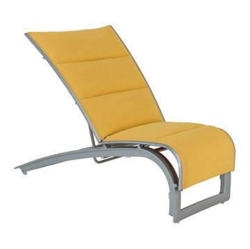 Tropitone Flair Padded Sling Recliner with Stackable Aluminum Frame
