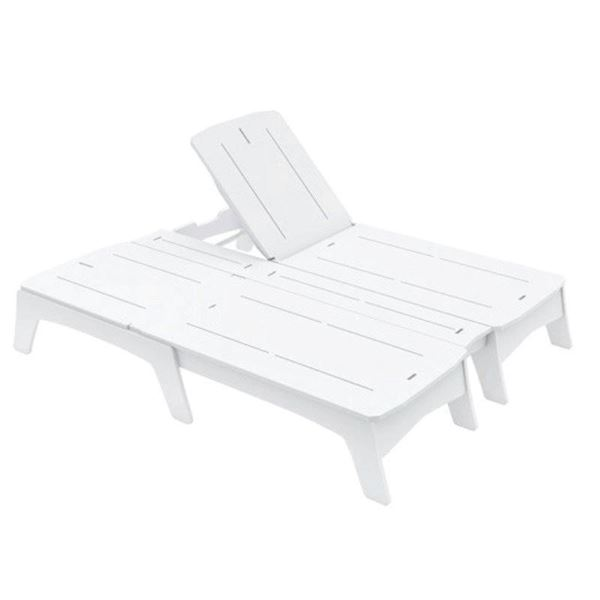 Ledge Lounger Mainstay Polyethylene Double Chaise Lounge