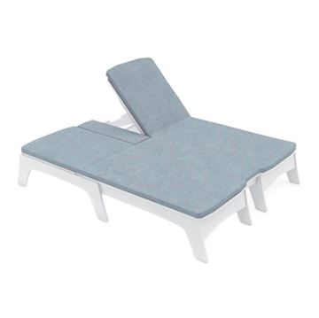 Ledge Lounger Mainstay Polyethylene Double Chaise Lounge