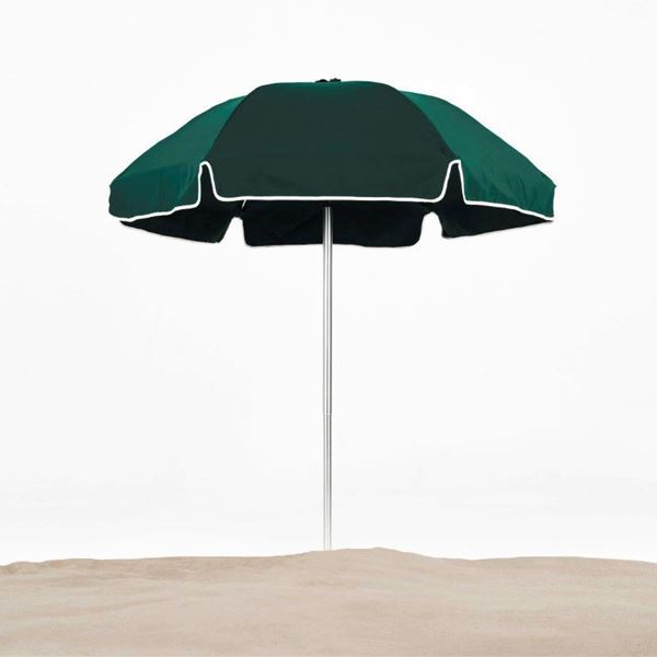 6.5 Foot Diameter Fiberglass Beach Umbrella with Acrylic Canopy