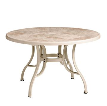 """Toscana 48"""" Round Table with Metal Legs"""