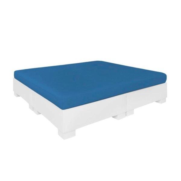 Ledge Lounger Affinity Polyethylene Square Sunbed