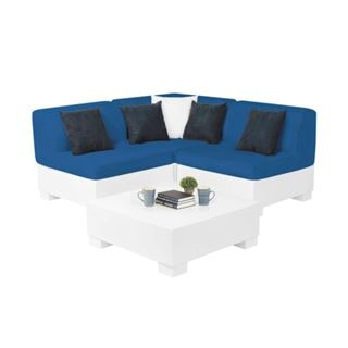 Ledge Lounger Affinity Sectional - 4 Piece Diamond