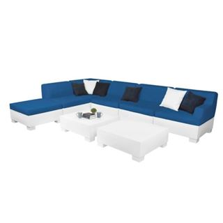 Ledge Lounger Affinity Sectional - 8 Piece Set