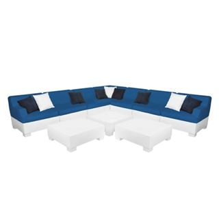 Ledge Lounger Affinity Sectional - 10 Piece Set