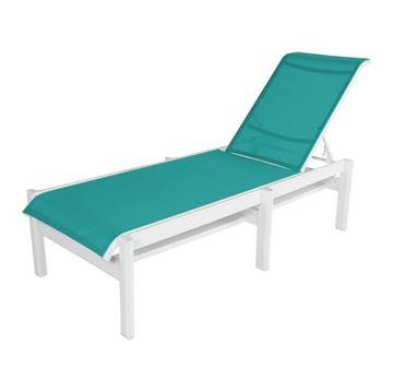 Hampton Armless Chaise Lounge Fabric Sling