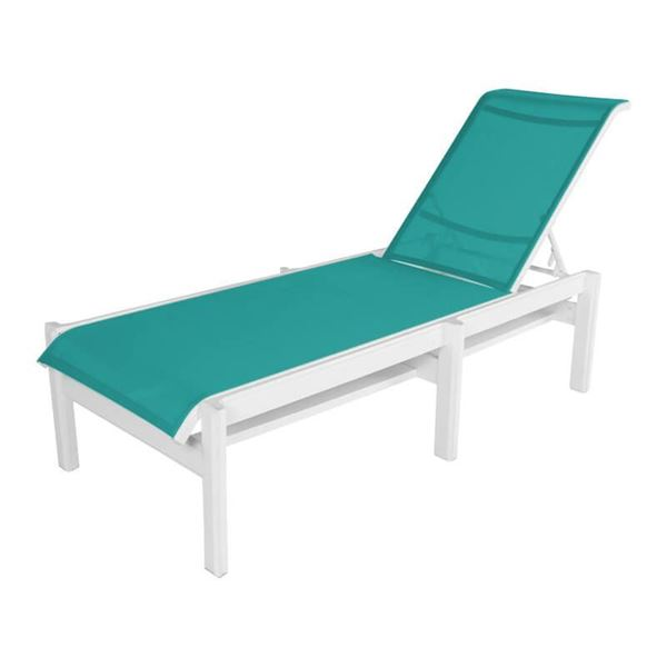 Hampton Armless Chaise Lounge Fabric Sling