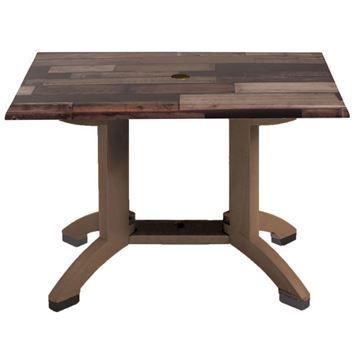 "Atlanta 48"" X 32"" Pedestal Table With Umbrella Hole"