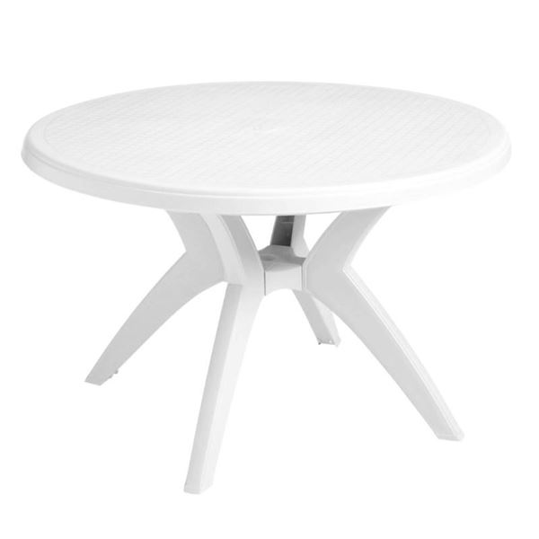 Ibiza 46 Inch Round Dining Table Plastic Resin