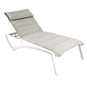Sunset Comfort Sling Chaise Lounge with Plastic Resin Frame