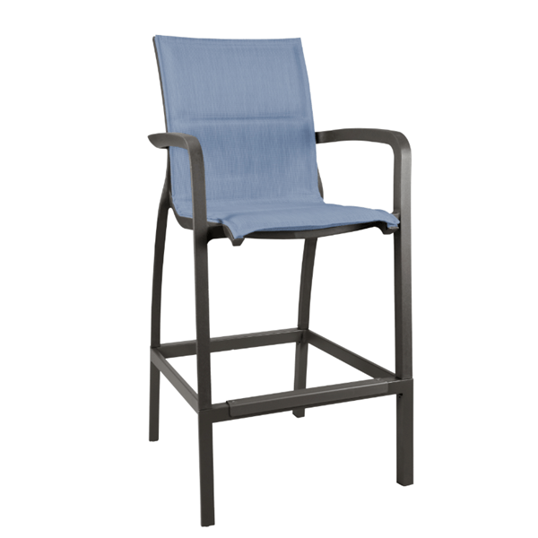 Sunset Comfort Sling Barstool with Plastic Resin Frame