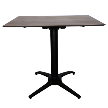 """32"""" Square HPL Dining Table with Aluminum Legs"""