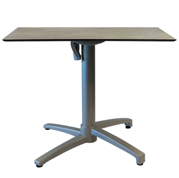 "32"" Square HPL Dining Table with Aluminum Legs"