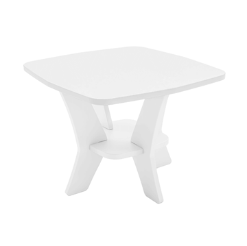Ledge Lounger Mainstay Polyethylene Square Side Table - 19 lbs.