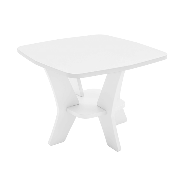 Ledge Lounger Mainstay Polyethylene Square Side Table - 19 lbs.