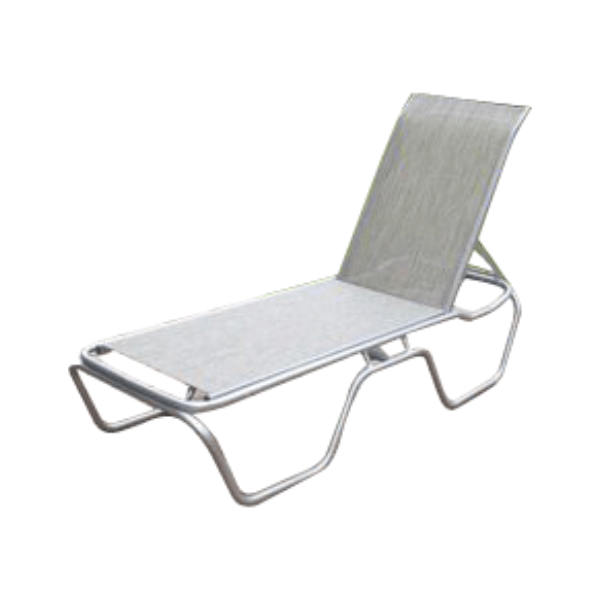 Daytona Commercial Sling Chaise Lounge with Poweder-Coated Aluminum Frame - Stackable
