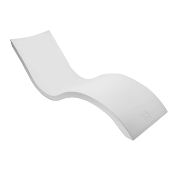 Ledge Lounger Signature In-Pool Chaise Lounge Made Of Plastic Resin