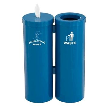Hand Wipe Dispenser with Attached Trash Container - 21 lbs.