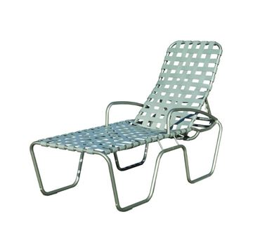 Sanibel Basketweave Full-Body Vinyl Strap Chaise Lounge - 24 lbs.