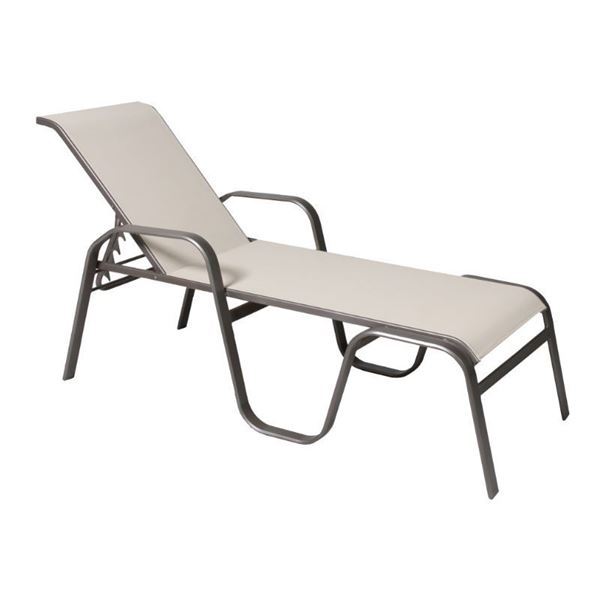 Maya Sling Chaise Lounge with Stackable Aluminum Frame - 35 lbs.