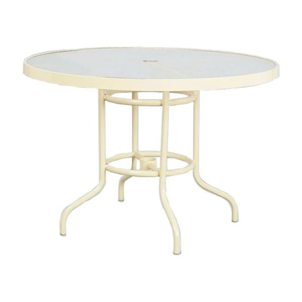 "42"" Round Acrylic Dining Table"