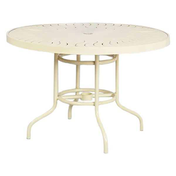 "42"" Round Aluminum Dining Table"