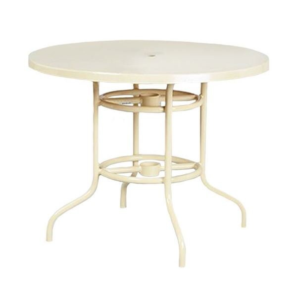 "42"" Round Fiberglass Dining Table"