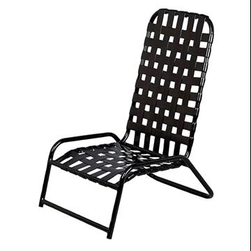 Picture of Daytona Cross Weave Vinyl Strap Commercial High-Back Sand Chair