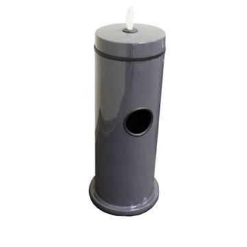 7-Gallon Fiberglass Trash Receptacle with Hand Wipe Dispenser