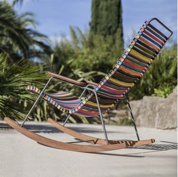 Playnk Rocker with Bamboo Accents and Powder-Coated Metal Frame - 27 lbs.