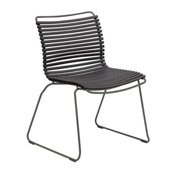 Ledge Lounger Playnk Dining Side Chair with Powder-Coated Metal Frame - 16 lbs.
