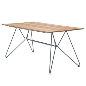 """Ledge Lounger Bamboo Playnk Rectangular Dining Table - 63"""" or 87"""""""